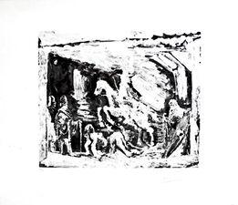 Pablo Picasso, Rapt avec Celestine, ruffian, fille et seigneur avec son valet