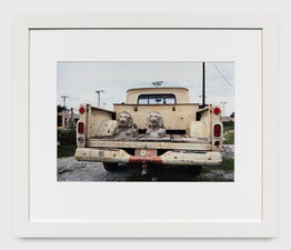William Eggleston, Untitled (Stone lions in truck bed) from the Los Alamos Portfolio