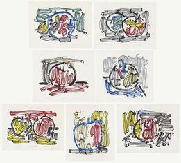 Roy Lichtenstein, Seven Apple Woodcuts Series
