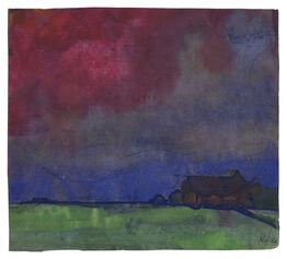Emil Nolde, Abendlandschaft Nordfriesland