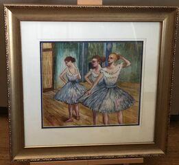 Edgar Degas, Ballet Dancers-Pastel on Paper