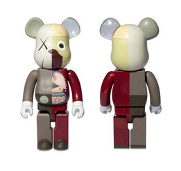 KAWS, Bearbrick Dissected 1000% Brown
