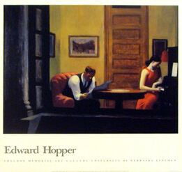 Edward Hopper, Room in New York, HOLIDAY SALE $50 OFF THRU MAKE OFFER