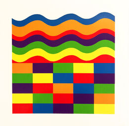Sol LeWitt, Arcs and Bands in Color A