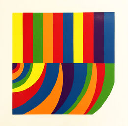 Sol LeWitt, Arcs and Bands in Color F