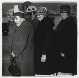Diane Arbus, Untitled (five women in masks)