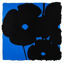 Donald Sultan, Reversal Poppies: Blue and Black, November 6, 2015
