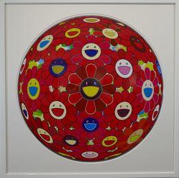 Takashi Murakami, Flowerball (3D) - Red Flower Ball