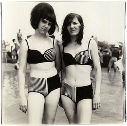 Diane Arbus, Two Girls in Matching Bathing Suits, Coney Island, NY