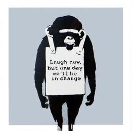 Banksy, Laugh Now (Silver) Vinyl Record