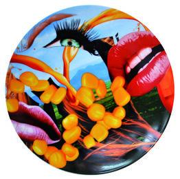 Jeff Koons, Lips Coupe Plate