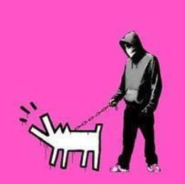 Banksy, Choose Your Weapon (Pink)