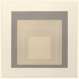 Josef Albers, White Line Squares (Series II), XIV