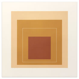 Josef Albers, White Line Squares (Series II), XVI