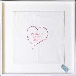 Tracey Emin, My Heart is With You Always (Hand signed and inscribed)