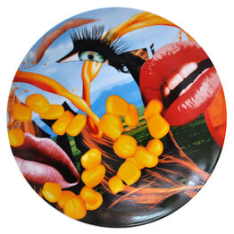 Jeff Koons, Lips Coupe Service Plate