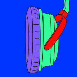 Michael Craig-Martin, Headphones (fragment)