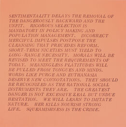 "Jenny Holzer, From the series ""Inflammatory Essays"""
