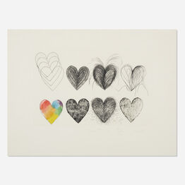 Jim Dine, Hearts and a Watercolor
