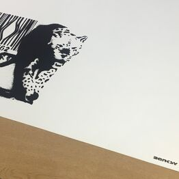Banksy, Barcode (Unsigned with Black Banksy Stamp)