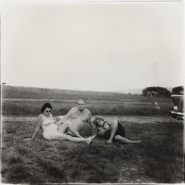 Diane Arbus, A Family and Their Car in a Nudist Camp in Pennsylvania,