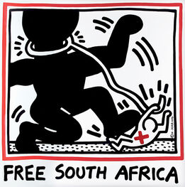 Keith Haring, Keith Haring Free South Africa poster 1985