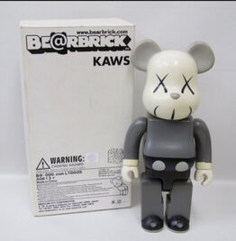 KAWS, Bearbrick 400% Grey