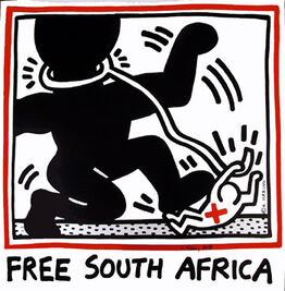 Keith Haring, Free South Africa