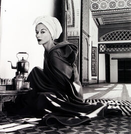 Irving Penn, Woman in a Palace (Lisa Fonssagrives-Penn), Marrakech, Morocco