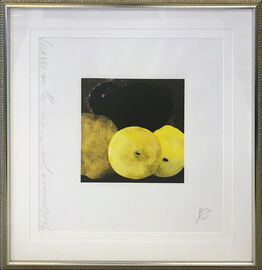 Donald Sultan, FIVE LEMONS, A PEAR, AND AN EGG