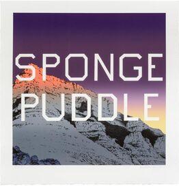 Ed Ruscha, Sponge Puddle