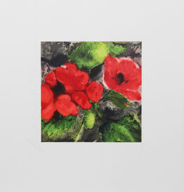 Donald Sultan, Red Poppies