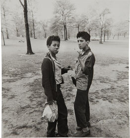Diane Arbus, Two boys smoking in Central Park, N.Y.C.