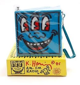Keith Haring, POP SHOP- AM/FM Radio's, RED & BLUE, Original Packaging