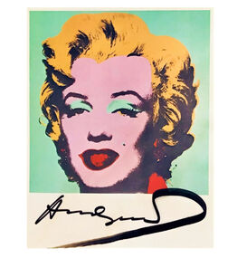 Andy Warhol, 'Marilyn', Signed, MoMA Postcard