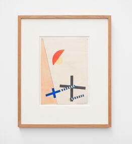 László Moholy-Nagy, Collage mit 2 Kreuzen