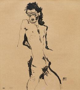 Egon Schiele, Male Nude (Self-Portrait) I