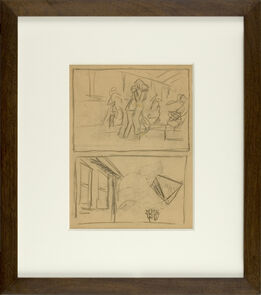 Edward Hopper, Figure and House Sketch