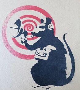 Banksy, RADAR RAT (Dirty Funker)