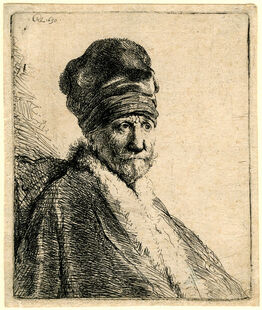 Rembrandt van Rijn, Bust of a Man Wearing a High Cap