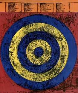 Jasper Johns, Jasper Johns Merce Cunningham and Dance Company poster