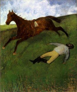Edgar Degas, Jockey Blessé