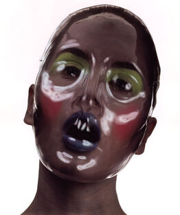 Irving Penn, Clear Plastic Beauty Mask, New York