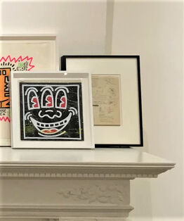 """Keith Haring, """"Three Eye Zipper Pouch"""", 1980's, POP SHOP NYC, Red or Black"""