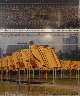 Christo, The gates: Project for Central Park, New York City, 1987