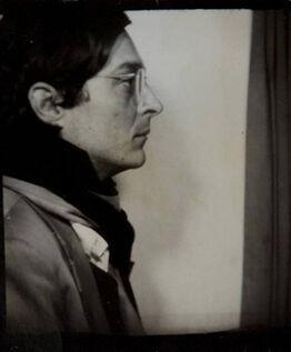 William Eggleston, Self-Portrait in Profile in a Photo Booth