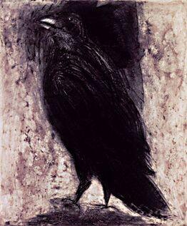 Jim Dine, Raven on White Paper