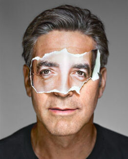 Martin Schoeller, George Clooney with Mask