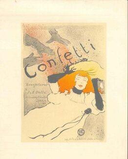 Henri de Toulouse-Lautrec, Confetti (After H. de Toulouse-Lautrec)