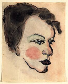 Emil Nolde, Woman's Head in Half Profile
